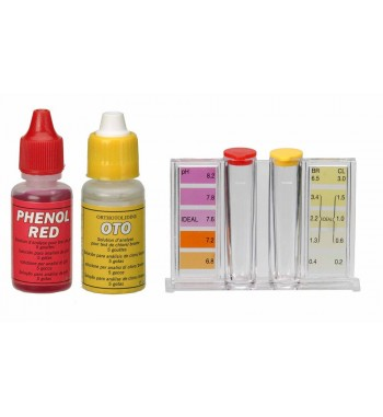 Analizador de cloro/bromo + pH (Oto/Phenol)